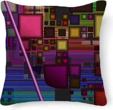 Jewel City Radiant Rainbow Abstract Urban