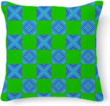 Lime Green with Blue Blocks
