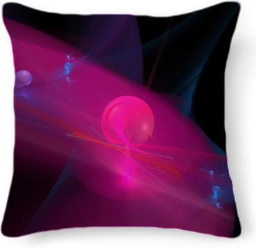Rose Pink Abstract Fractal Planet Light Stream