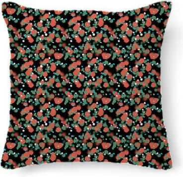 Sprouted Spirals Orange and Green Pillow
