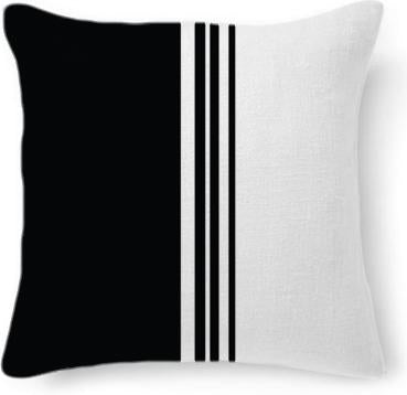 Stylish Black and white mod striped design