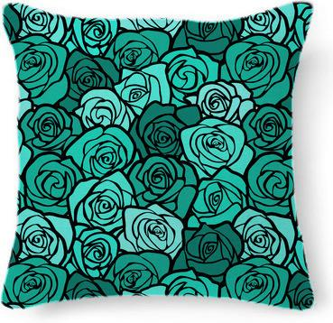 Vintage black and turquoise roses