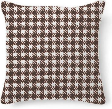Vintage brown houndstooth