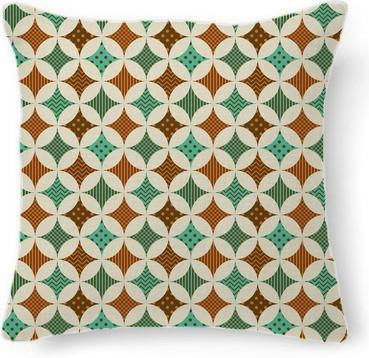 Vintage Geometric Diamond Abstract