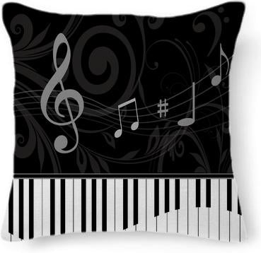 Whimsical Piano and musical notes