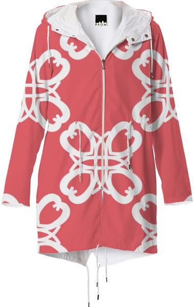 4 Hearts Peach Raincoat
