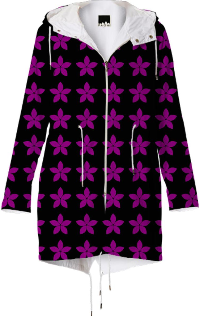 Black and Purple Star Raincoat