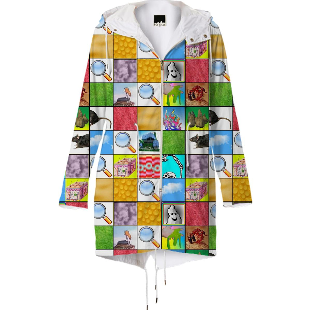 PAOM, Print All Over Me, digital print, design, fashion, style, collaboration, xela-flactem, xela flactem, Raincoat, Raincoat, Raincoat, Calender, spring summer, unisex, Poly, Outerwear