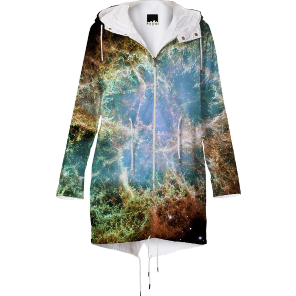 Crab Nebula Raincoat