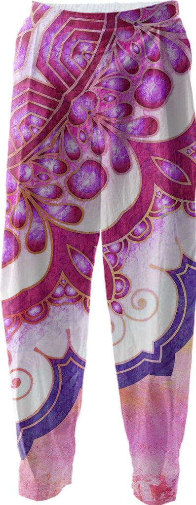 Colorful Watercolor Mandala Relaxed Pant