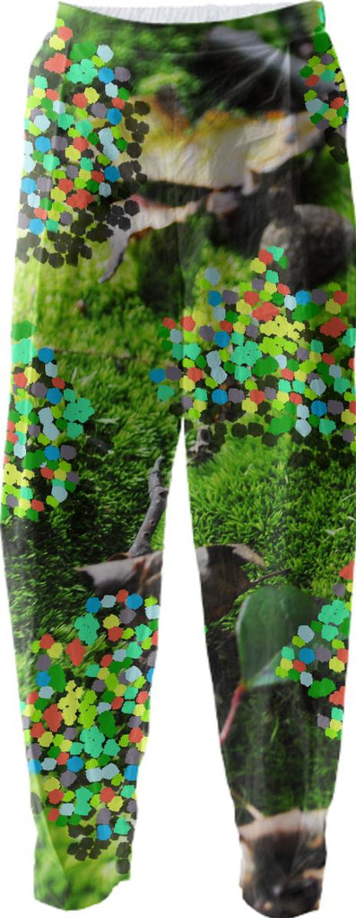 cool moss polka dot confetti collage