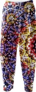 Digital angel mandala pants