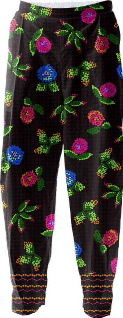 flower mosaic is playful and fun for the cotton pant