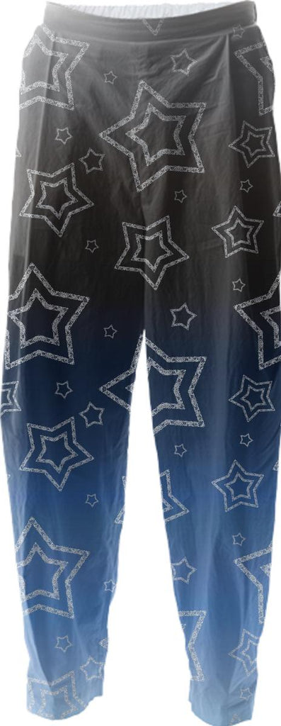 Ornated Silver Stars Relaxed Pant