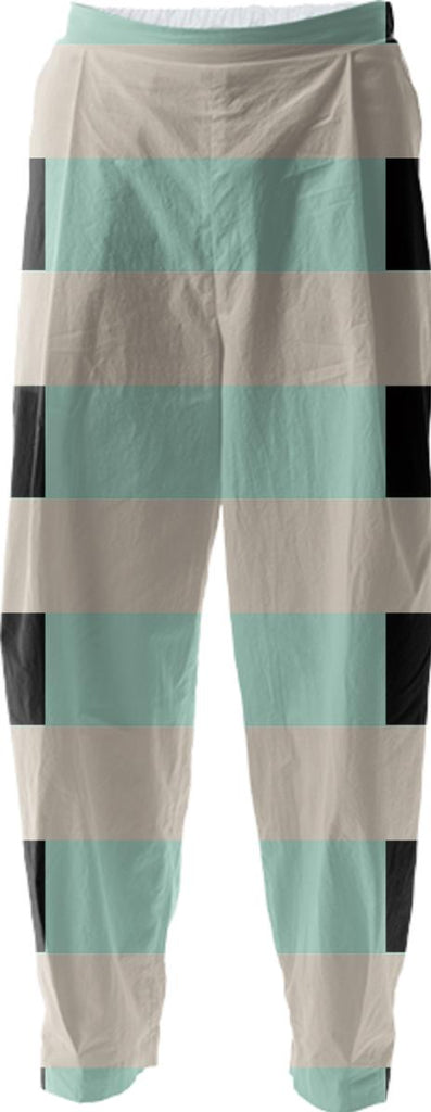 Tan Mint Black Checkerboard Relaxed Pant