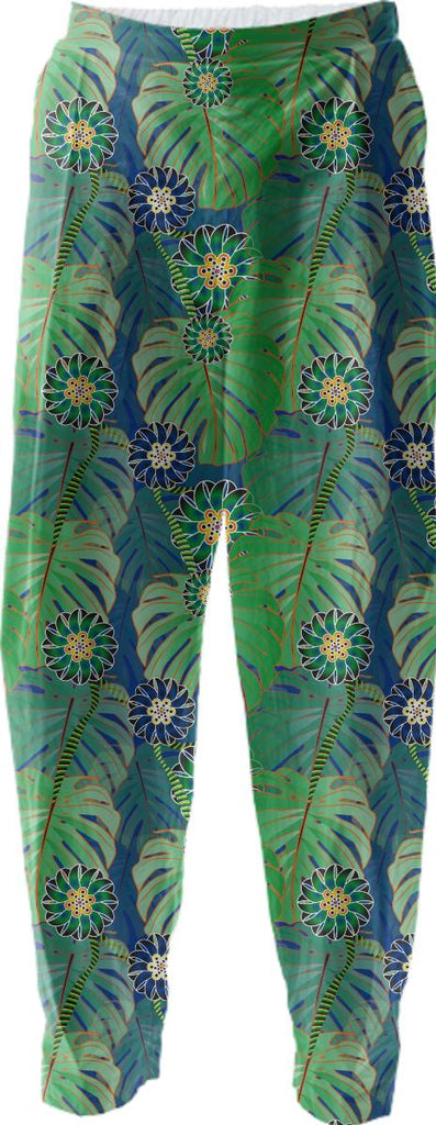 Tropical Plant Relaxed Pant