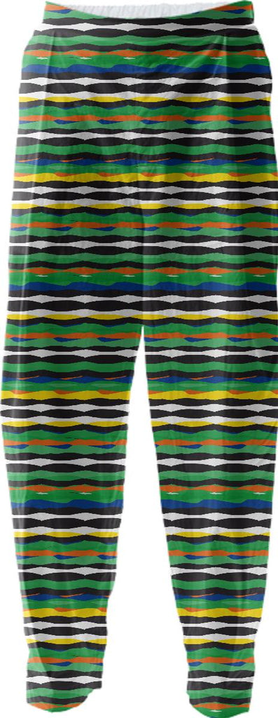 Tropical Stripes Relaxed Pant