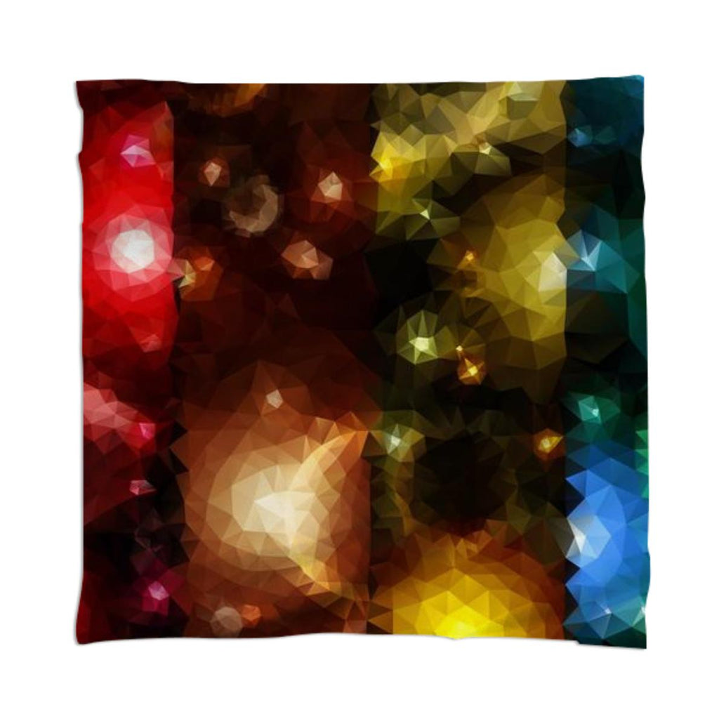 POLYGON TRIANGLES PATTERN MULTI COLOR COLORFUL RAINBOW ABSTRACT RED ORANGE YELLOW STAR SPACE UNIVERSE SKY FANTASY