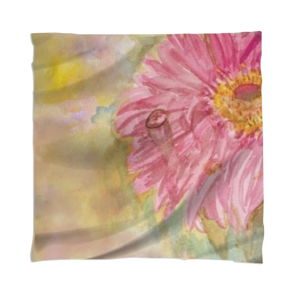 Watercolor Daisy Scarf