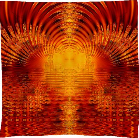 Abstract Golden Red Tunnel of Light