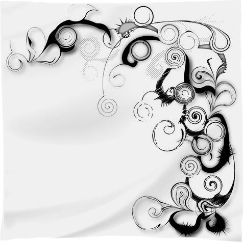 Black And White Swirls And Twirls