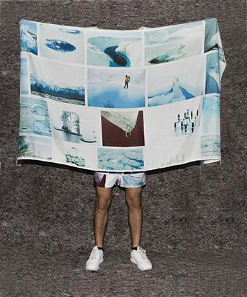 PAOM, Print All Over Me, digital print, design, fashion, style, collaboration, frank-traynor, frank traynor, Scarf, Scarf, Scarf, The, Perfect, Nothing, Catalog, Sarong, Hayden, Dunham, water, melting, autumn winter spring summer, unisex, Rayon, Accessories