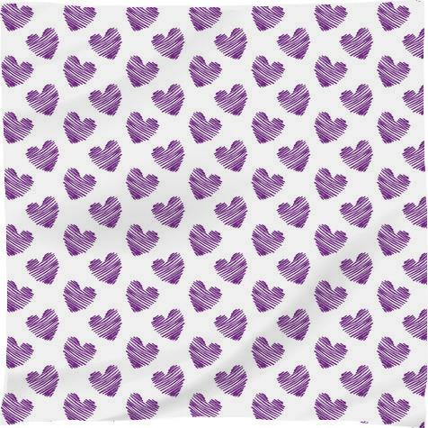 Purple Scribble Hearts