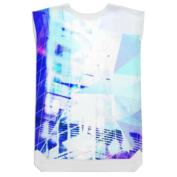 Cityscape Prisms Shift Dress