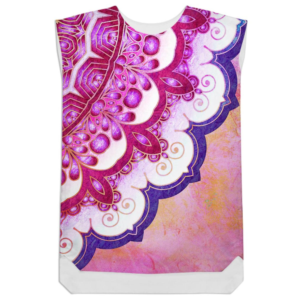 Colorful Watercolor Mandala Shift Dress
