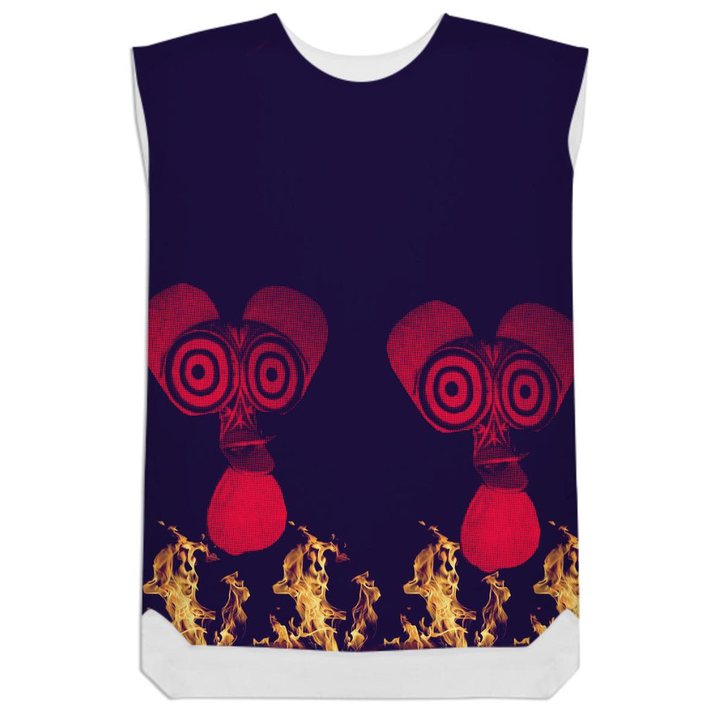 fire dance shift dress