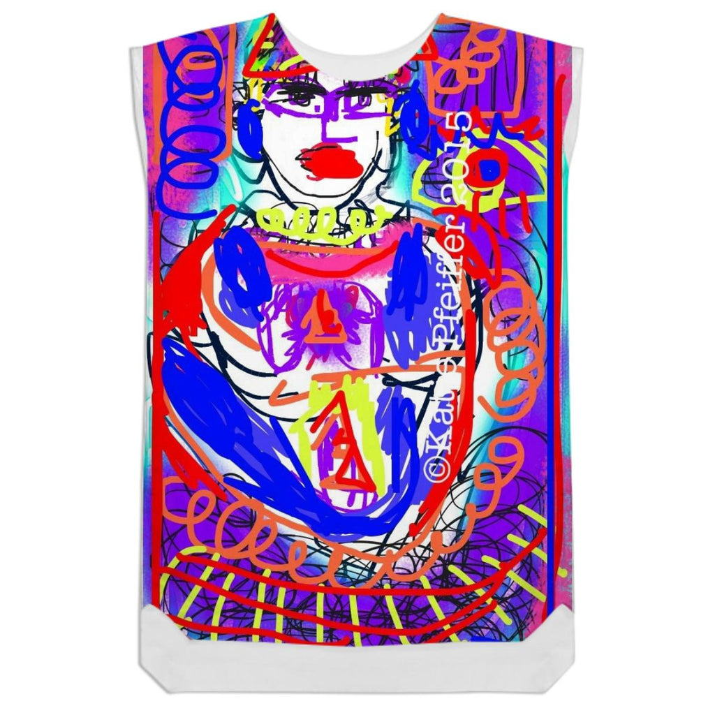 Graffiti Buddha Shift Dress