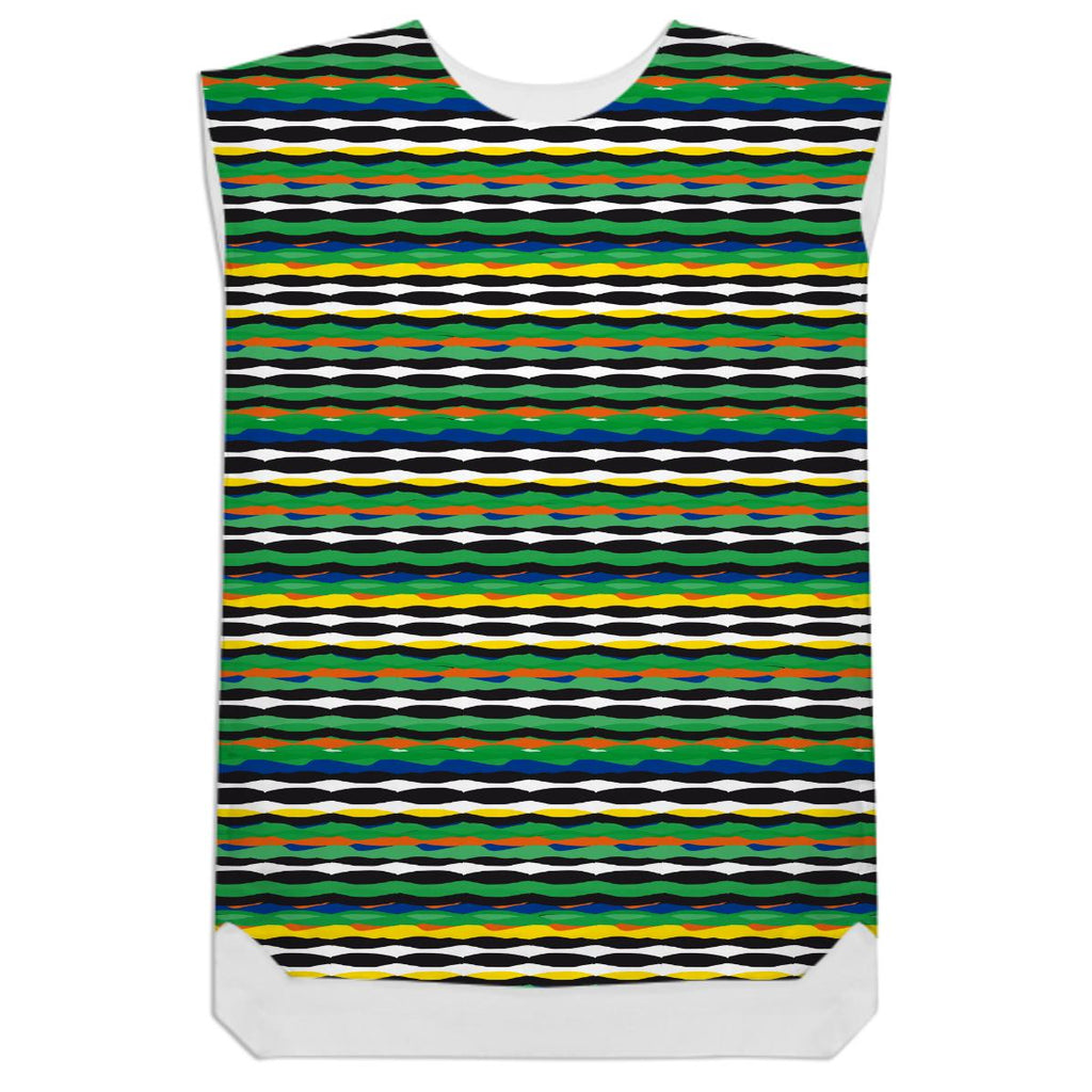 Tropical Stripes Shift Dress