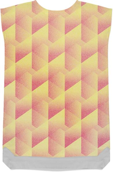 Geometric Pink Yellow SHIFTDRESS