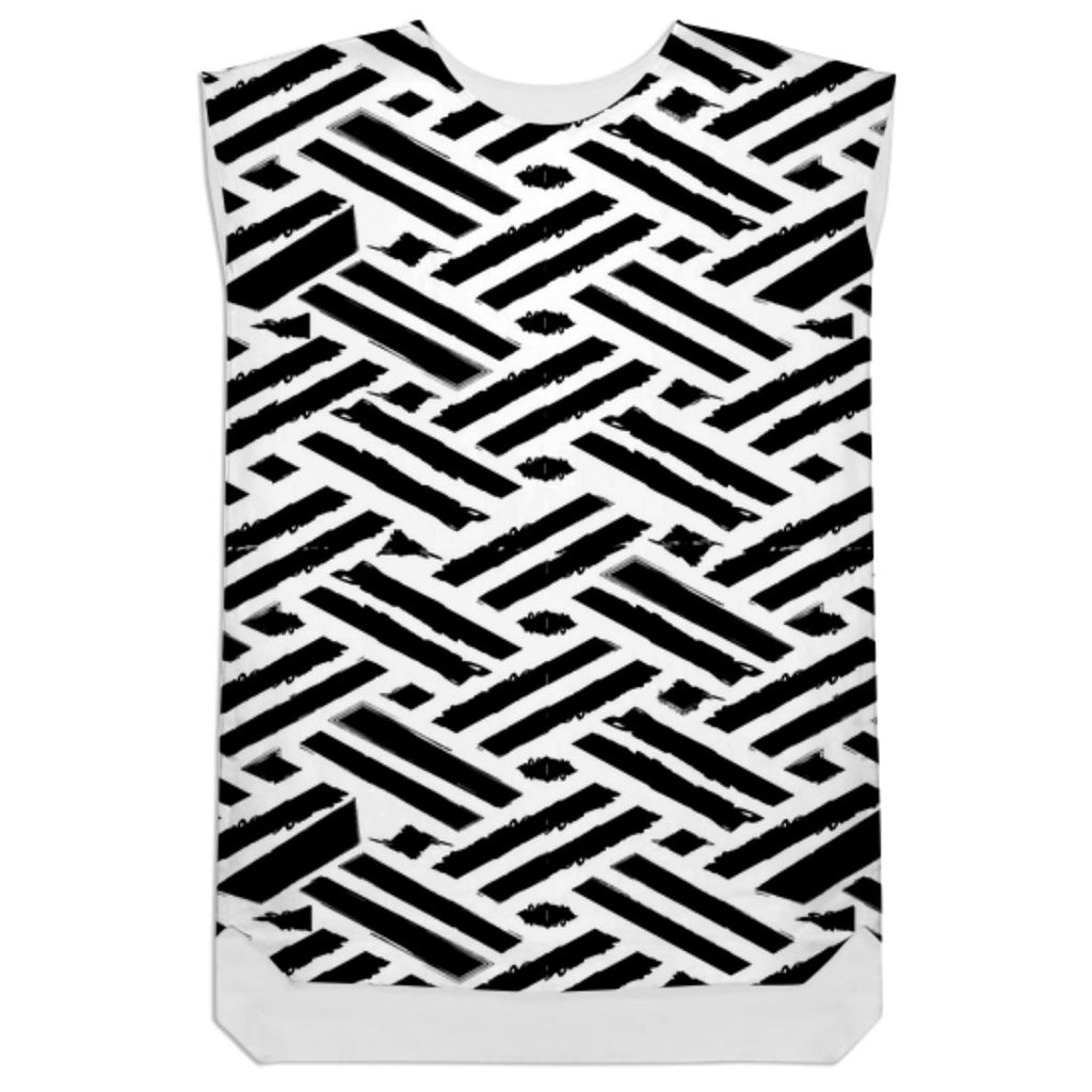 Ethnic style black and white block print design