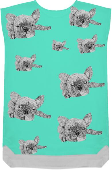 French Bulldog Shift Dress