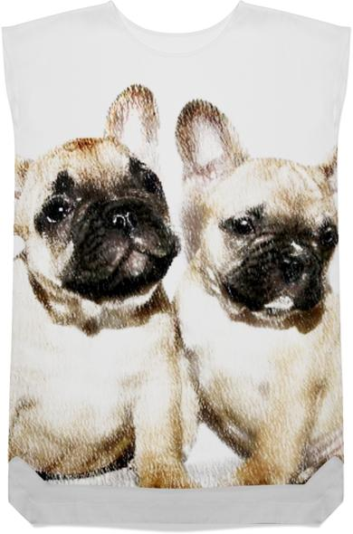 French Bulldogs shift dress