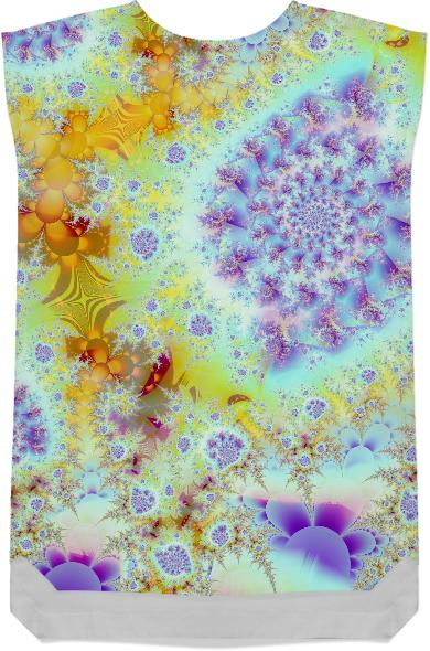 Golden Violet Sea Shells Abstract Fractal Ocean