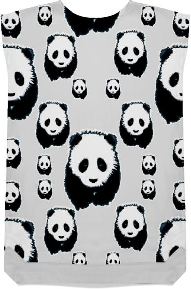 Panda Black and White Shift Dress