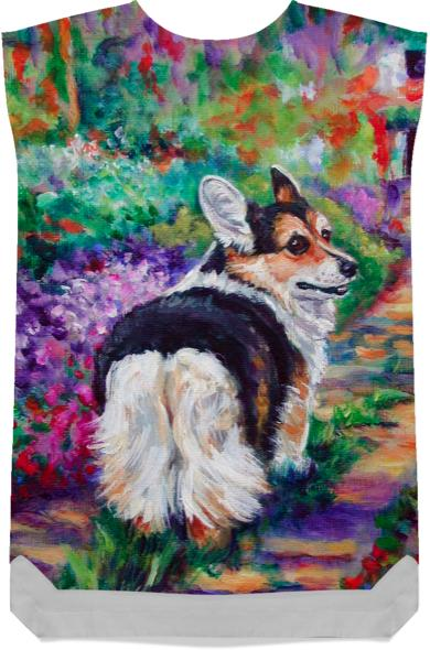 Pembroke Welsh Corgi in the Garden by Lyn Hamer Cook