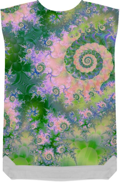 Rose Apple Green Dreams Abstract Fractal Water Garden