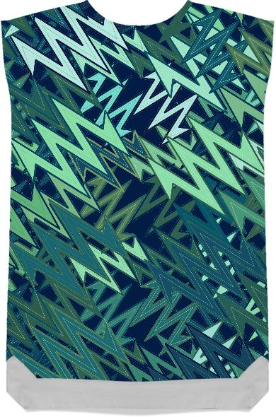 Shades of Teal Abstract Art Dress