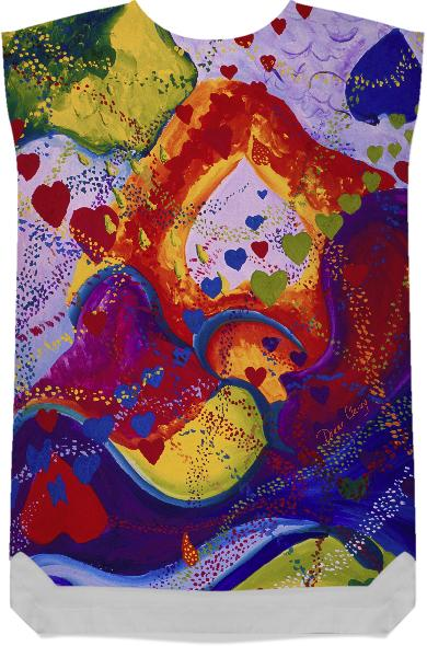 Underground The Power of Love Abstract Crimson Iris Hearts