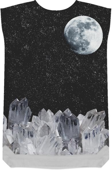 White Moon Shift Dress
