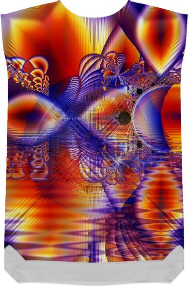 Winter Crystal Palace Abstract Fractal Cosmic Dream