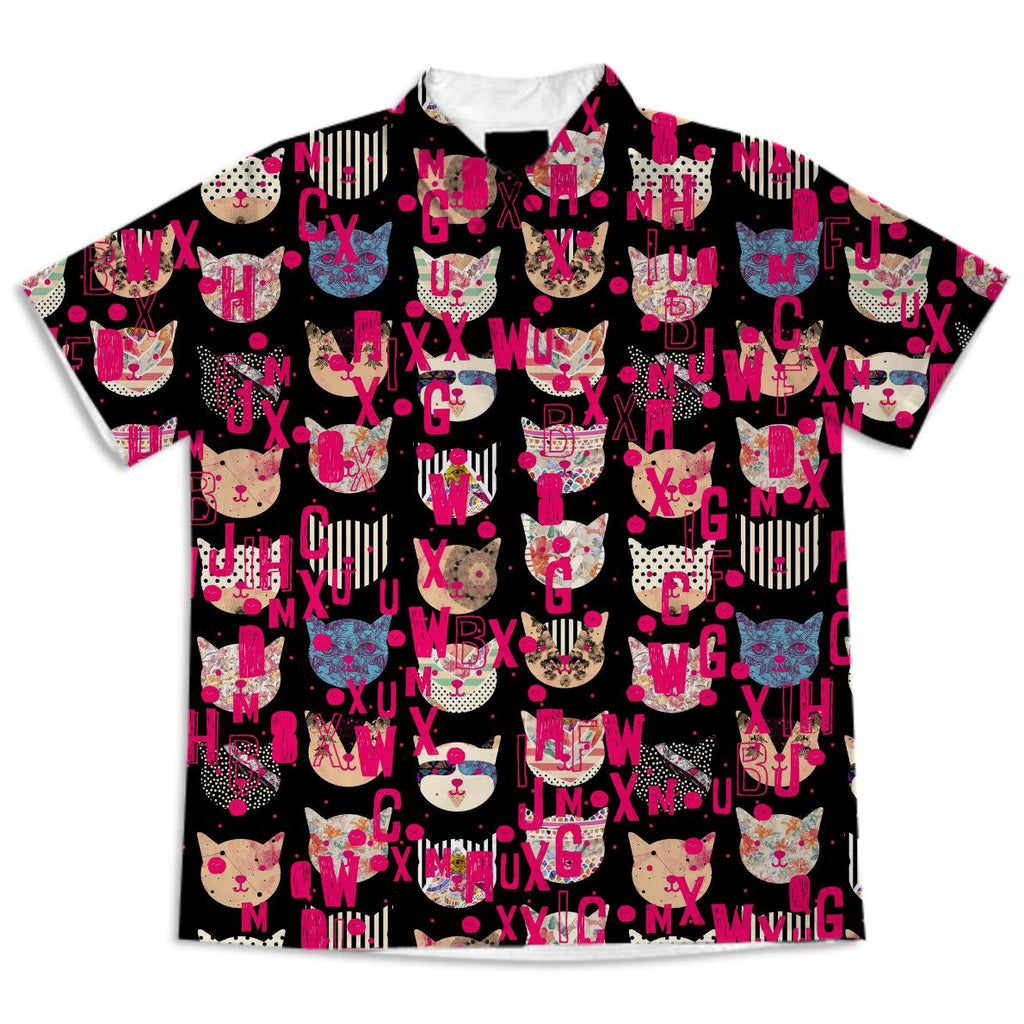 Cosmic Cats iv ix SHORT SLEEVE BLOUSE