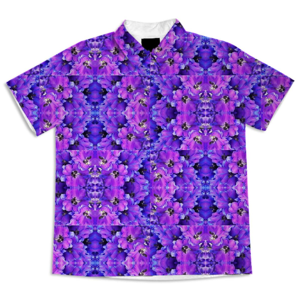 shirt purple flowers