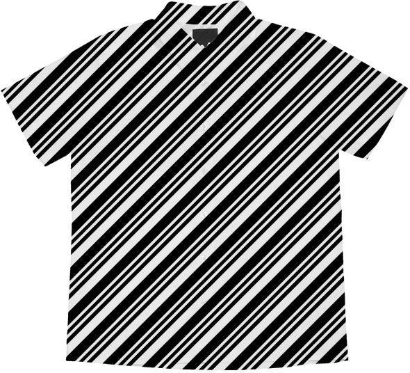 Black and White Diagonal Stripes