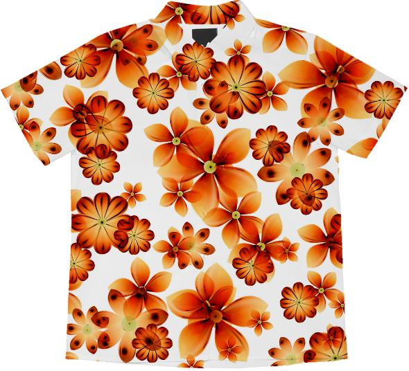 Burnt Flowers short sleeve blouse by Valxart