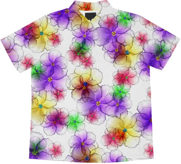 CANDY FLOWERS SHORT SLEEVE BLOUSE
