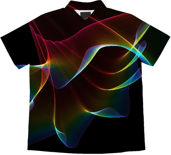 Imagine Through the Abstract Fractal Rainbow Veil